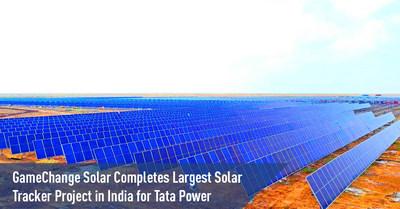 GameChange Solar completa el proyecto de seguidores solares más grande de India para Tata Power (PRNewsfoto/GameChange Solar)