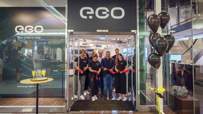 Team e.GO Mobile inaugurating the first e.GO brand store in Dusseldorf, Germany